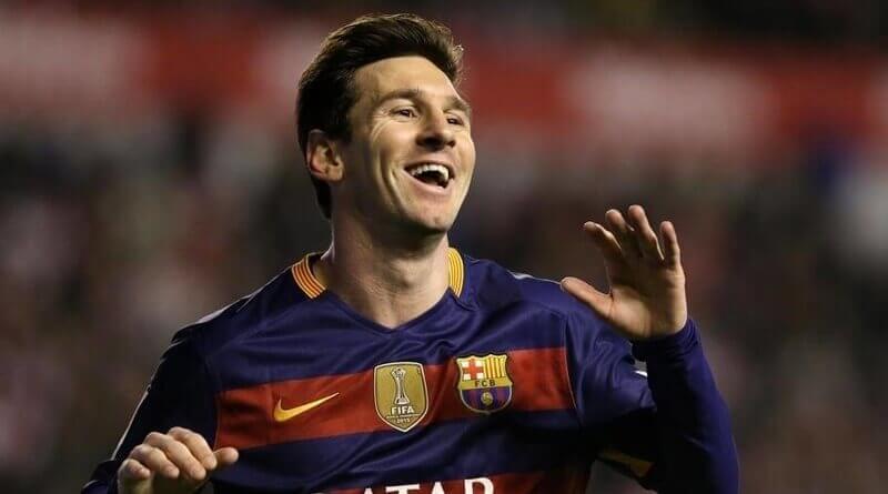 Messi feliz por sus 3 goles al Rayo