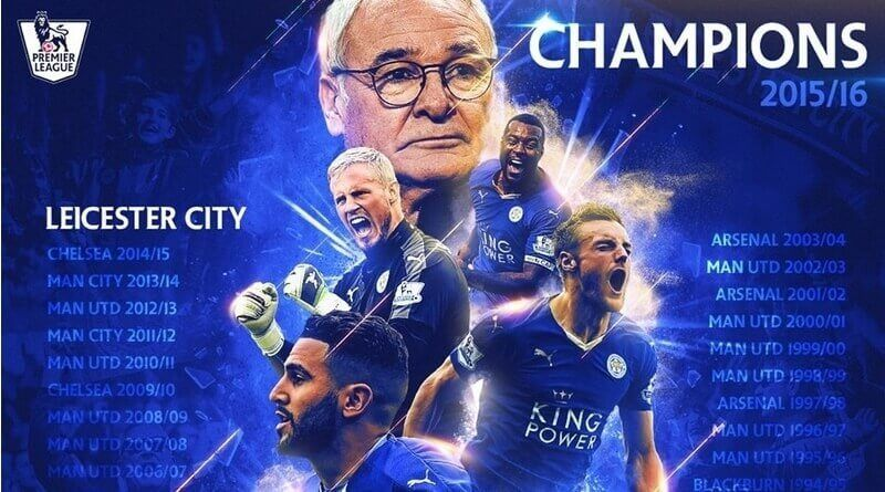 Leicester campeón Premier League 2015 2016