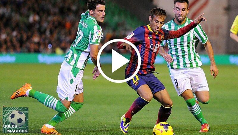 Neymar asistencia Luis Suárez