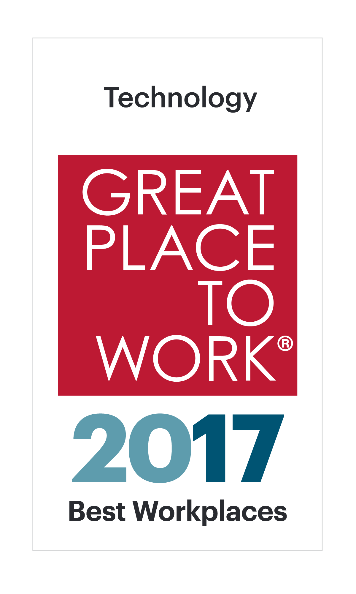 Best Workplaces in Technology 2017 Image