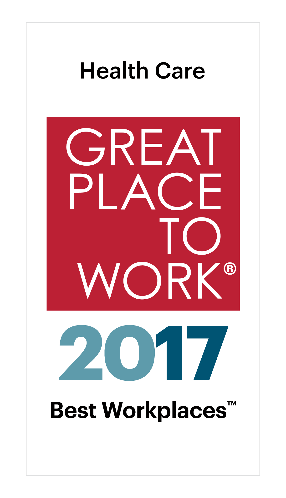 Best Workplaces in Health Care 2017 Image