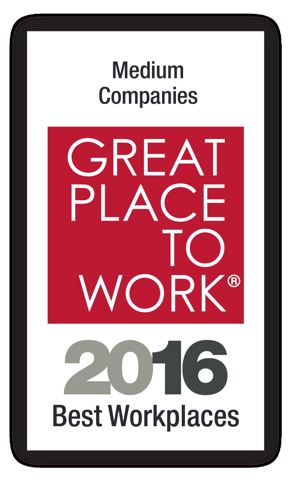Best Medium Workplaces 2016 Image