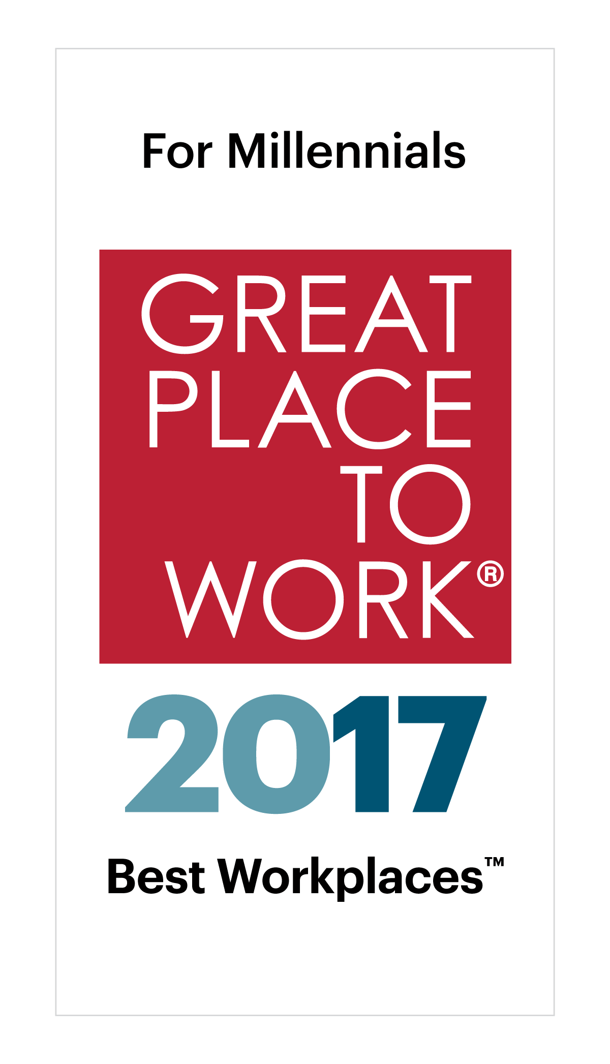 Best Workplaces for Millennials 2017 Image