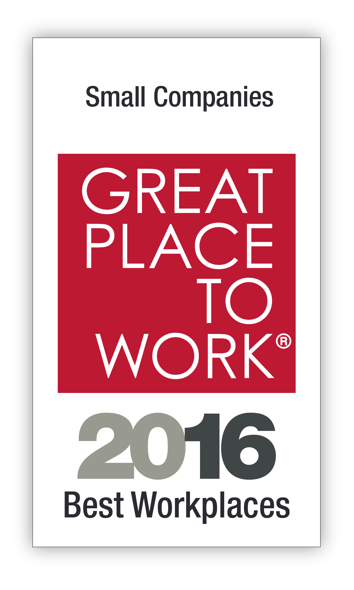 Best Small Workplaces 2016 Image