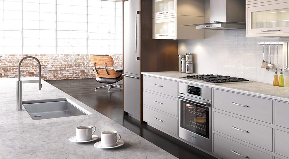 Bosch Benchmark kitchen in a loft