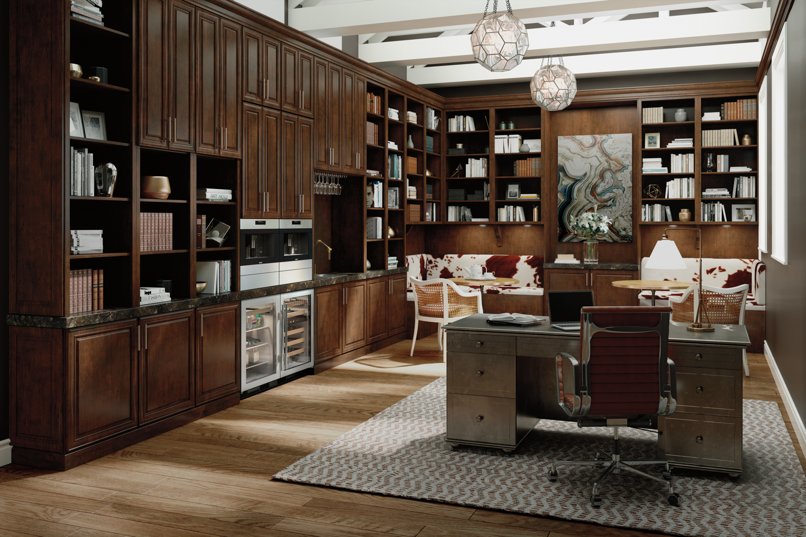 Luxury Office with Sub-Zero Undercounter Beverage Center