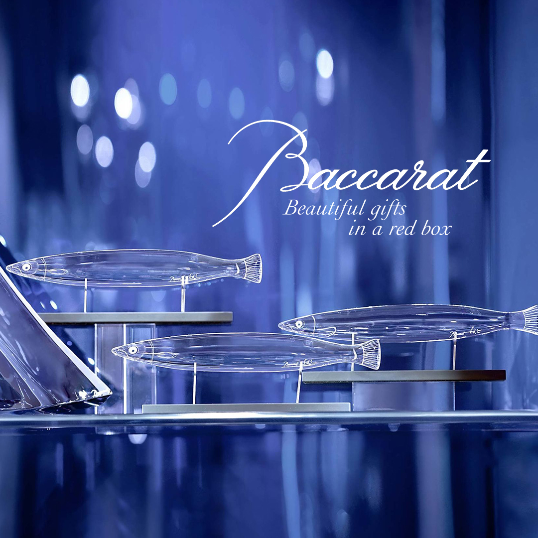 Baccarat Poisson Crystal Glass