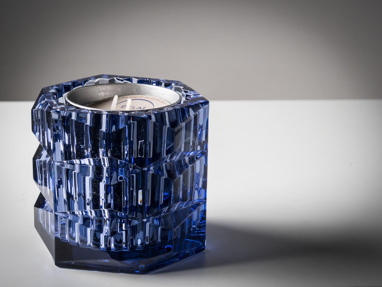 Baccarat Unforgettable Blue Candleholder