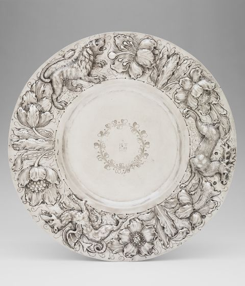 Salver, c. 1669–70, Harvard Art Museums/Fogg Museum.