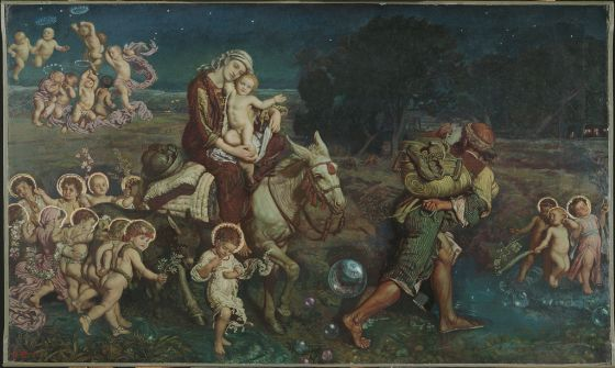 William Holman Hunt, The Triumph of the Innocents, 1870–1903, Harvard Art Museums/Fogg Museum.