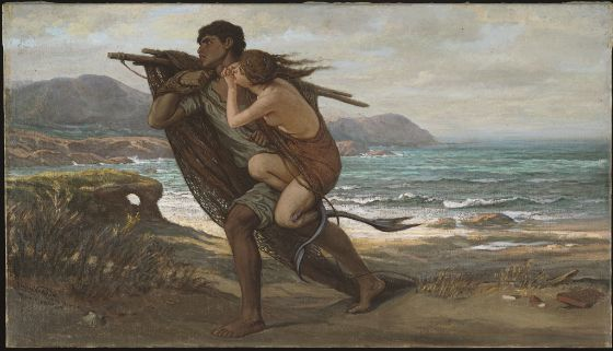 Elihu Vedder, Fisherman and Mermaid, 1888–89, Harvard Art Museums/Fogg Museum.
