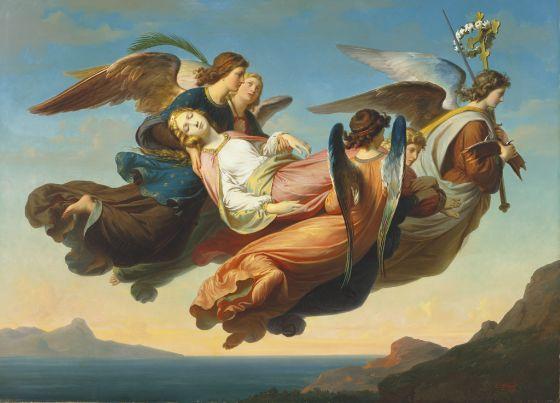 Carl von Blaas, The Miraculous Translation of the Body of Saint Catherine of Alexandria to Sinai, 1860, Harvard Art Museums/Fogg Museum.