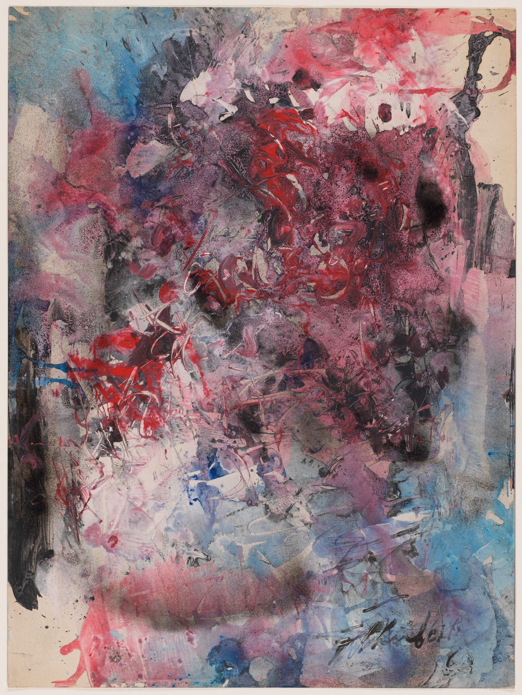 Fred Thieler, 32/H, 1962. Mixed media on paper. Harvard Art Museums/Busch-Reisinger Museum, Gift of the artist through the German Art Dealers Association, 1992.224.
