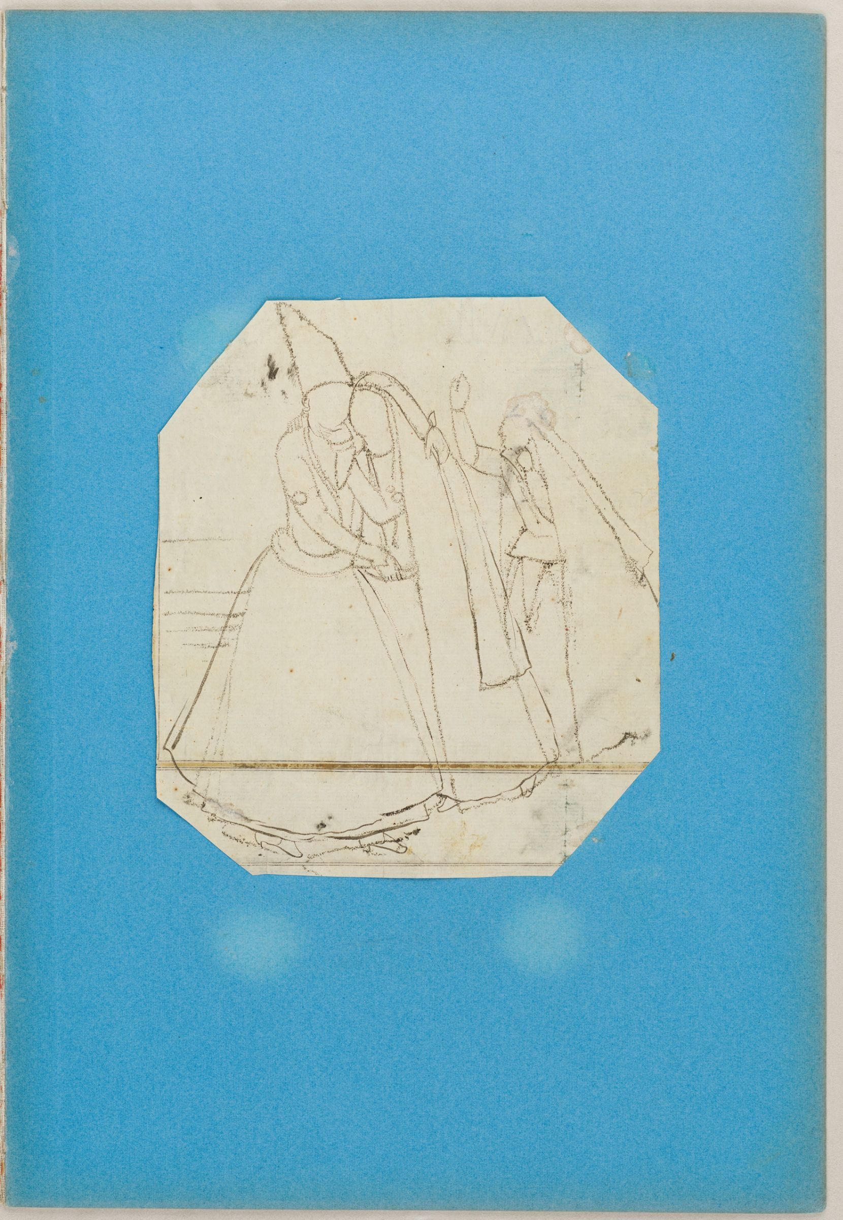 Embracing Couple Attended by a Woman, c. 1850s.