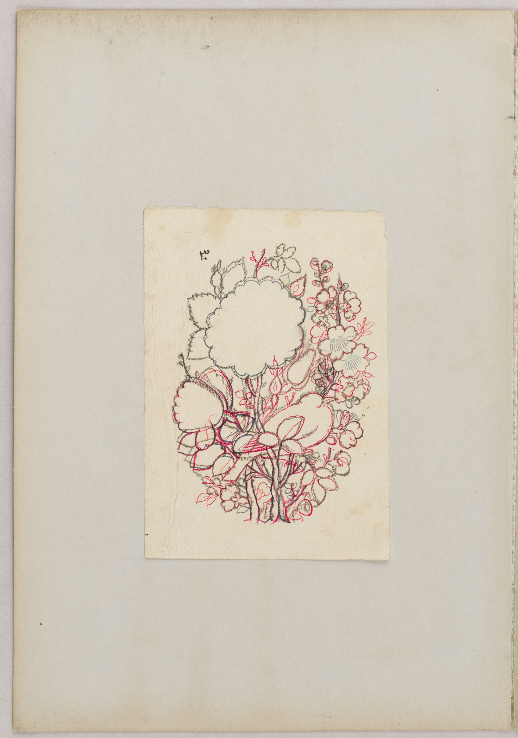 Bird and Flower Design, 1800–1850.