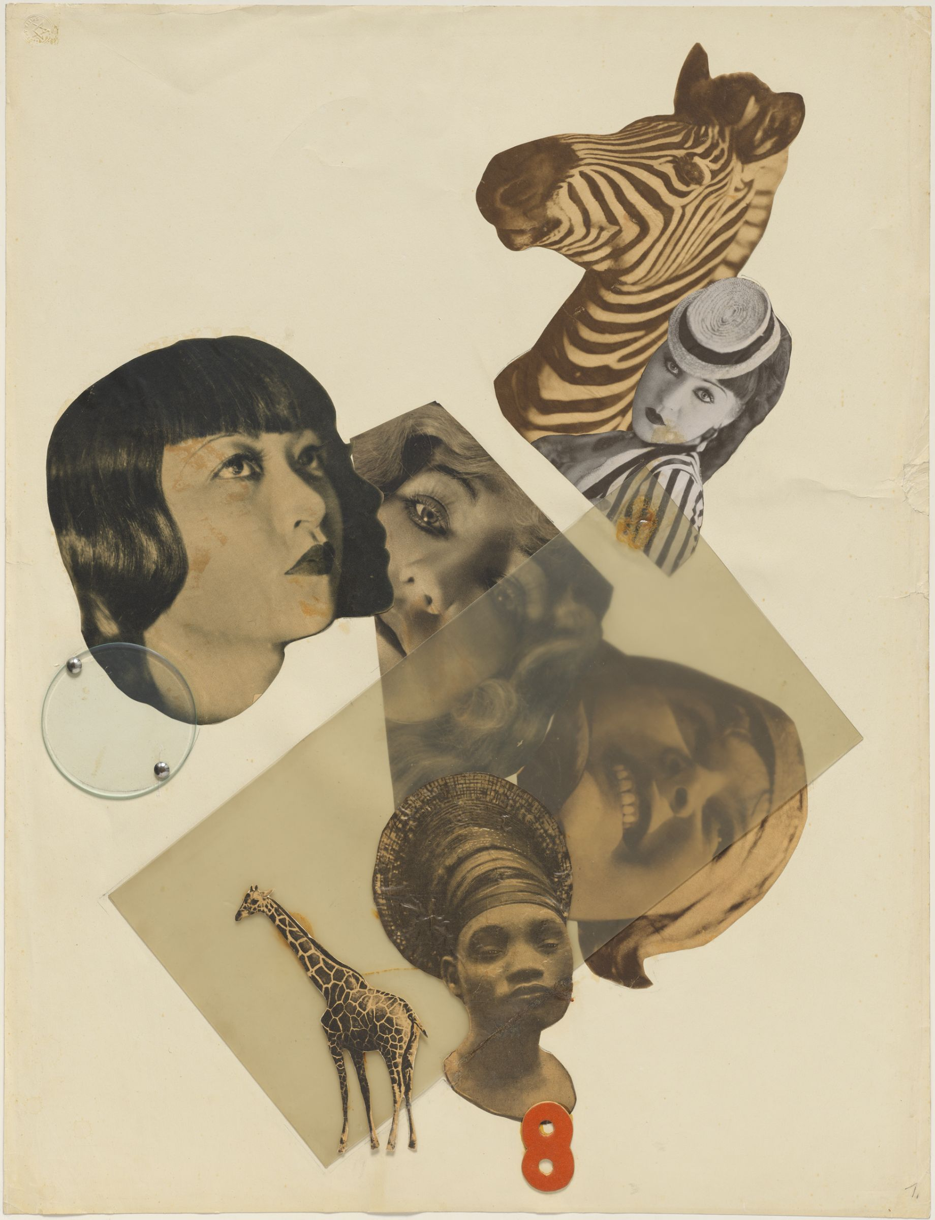 Marianne Brandt, Untitled [with Anne May Wong], 1929. Photomontage with cellulose acetate. Harvard Art Museums/Busch-Reisinger Museum, Purchase through the generosity of the Friends of the Busch-Reisinger Museum and their Acquisitions Committee, Richard and Priscilla Hunt, Elizabeth C. Lyman, Mildred Rendl-Marcus, and Sylvia de Cuevas, 2006.25. © Artists Rights Society (ARS), New York.