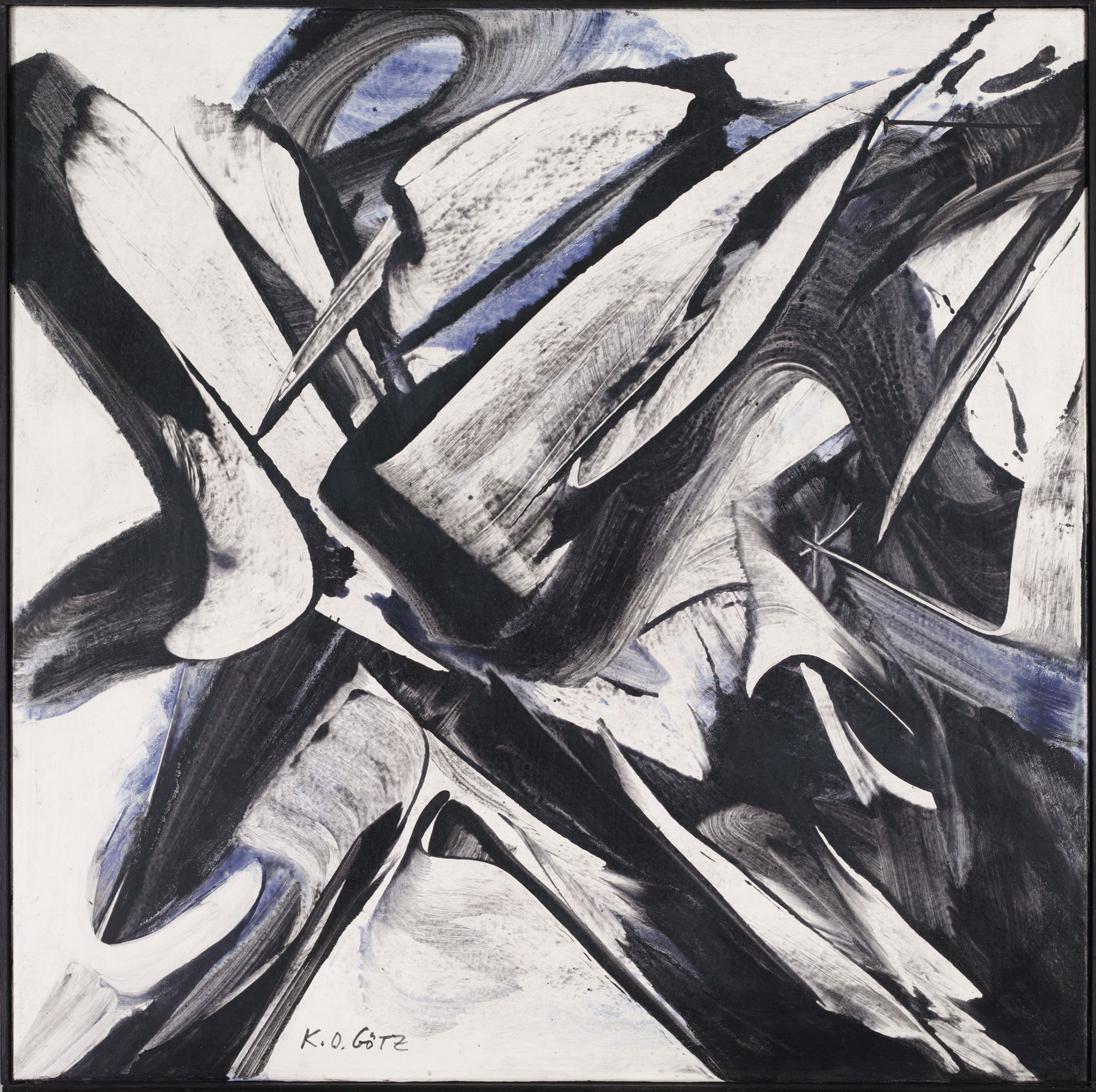 K. O. Götz, June 1954/II, 1954. Wallpaper paste and casein paint on canvas. Harvard Art Museums/Busch-Reisinger Museum, Anonymous gift, 2012.200.