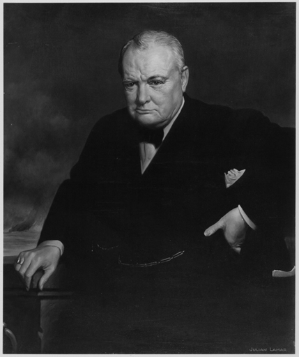 Julian Lamar, Winston Spencer Churchill, Harvard University Portrait Collection/Division of Modern and Contemporary Art.