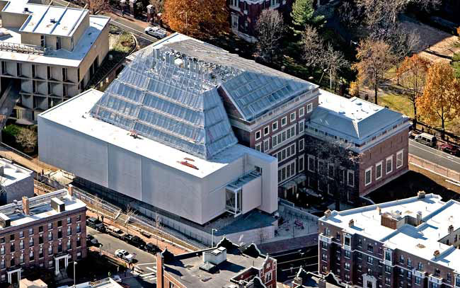 The Harvard Art Museums, during renovation and expansion. November 21, 2013. Photo: Aerial by lesvants.com.