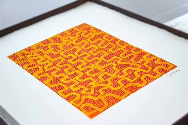 This etching, Wirrilpi (i) by Patrick Tjungurrayi, is one of the 40 prints that make up the Papunya Tula Portfolio, a popular work with visitors. The portfolio is on view at the Art Study Center every Monday during open hours, through the duration of the special exhibition Everywhen: The Eternal Present in Indigenous Art from Australia.