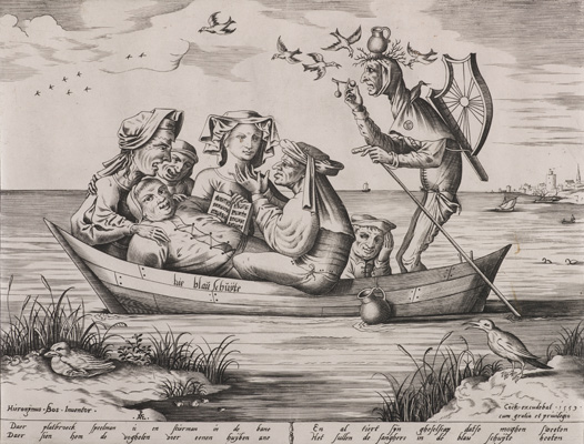 Pieter van der Heyden, The Blue Boat, 1559. Engraving. Private collection.