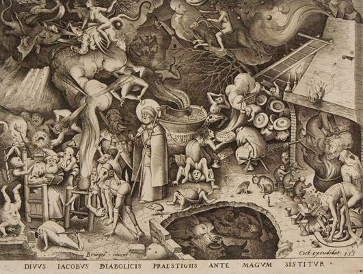 Pieter Bruegel the Elder, Saint James and the Magician Hermogenes, 1565. Engraving. Harvard Art Museums/Fogg Museum, Gift of Paul J. Sachs, M3530.