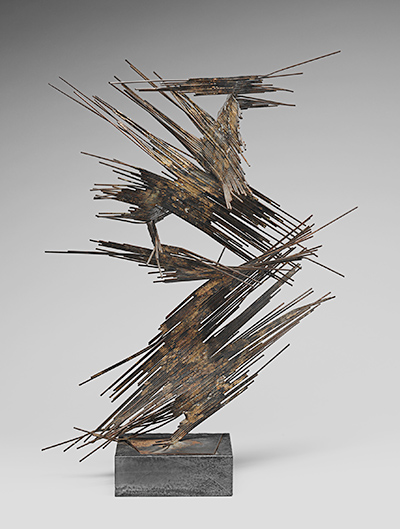 Norbert Kricke, Space Sculpture, c. 1960. Metal wire, welded. Harvard Art Museums/Busch-Reisinger Museum, Gift of The Cultural Council in the Federation of German Industry in memory of its Chairman, Berthold von Bohlen und Halbach, 1988.432.