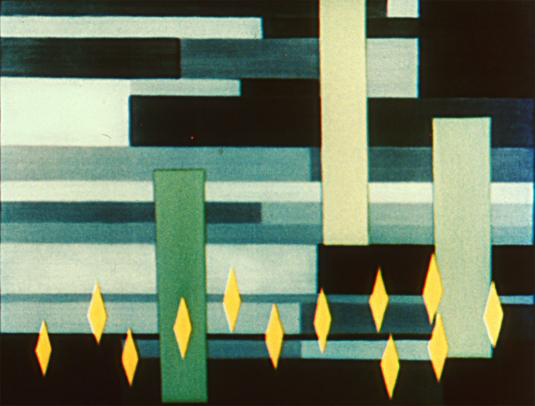 Still from Oskar Fischinger's Radio Dynamics (1942). Courtesy of Center for Visual Music.