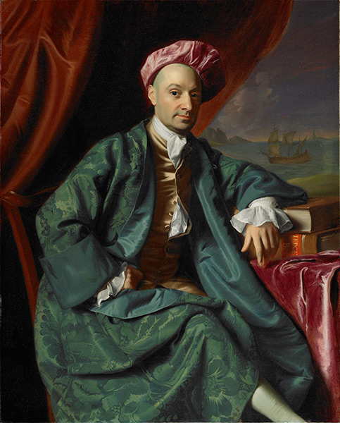 John Singleton Copley, Nicholas Boylston, 1773. Oil on canvas. Harvard University Portrait Collection, Painted at the request of the Harvard Corporation, 1773, H20. Photo © Michael Gould.