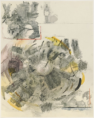 Robert Rauschenberg, Canto V, 1964. Collotype. Harvard Art Museums/Fogg Museum, Gift of Theodore E. Stebbins Jr. in honor of Marjorie Cohn, 2010.449.5. Art: © Robert Rauschenberg Foundation/Licensed by VAGA, New York, NY.