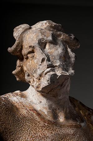 Detail of Bernini's Saint Longinus.