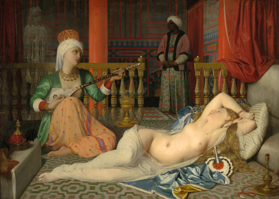 Jean-Auguste-Dominique Ingres, Odalisque with a Slave, 1839–40. Oil on canvas. Harvard Art Museums/Fogg Museum, Bequest of Grenville L. Winthrop, 1943.251.
