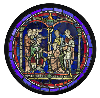 Scene from theLife of Thomas Becket, after conservation treatment.