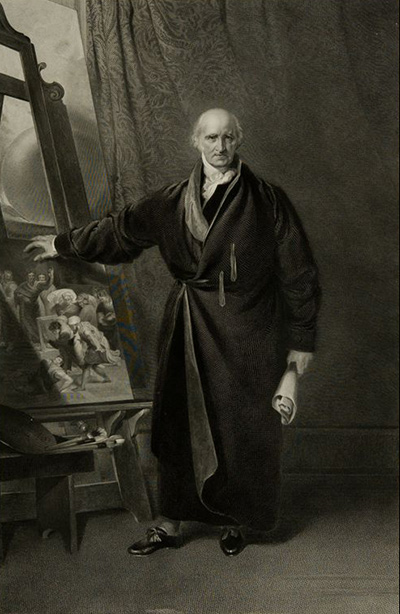 Charles Rolls, after Thomas Lawrence, Portrait of Benjamin West, 1842. Engraving. Harvard Art Museums/Fogg Museum, Gift of Misses Aimee and Rosamond Lamb, 1970.11.