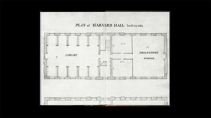 The back endsheet is the floor plan of the Philosophy Chamber.