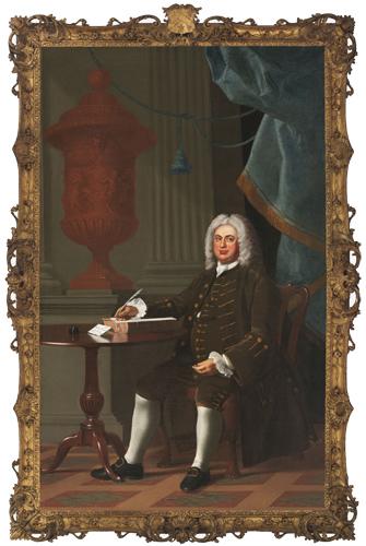 John Singleton Copley, Thomas Hollis III (1659–1731), 1765–66. Oil on canvas. Harvard University Portrait Collection, Commissioned by the Harvard Corporation, 1765, H25.
