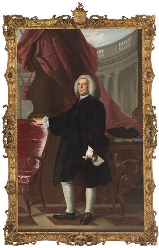 John Singleton Copley, Thomas Hancock (1703–1764), 1764–66. Oil on canvas. Harvard University Portrait Collection, Gift of John Hancock, nephew of Thomas Hancock, to Harvard College, 1766, H22.