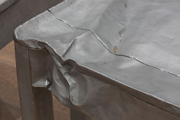 A close up of one of Salcedo's untitled chair works (detail). © Doris Salcedo.