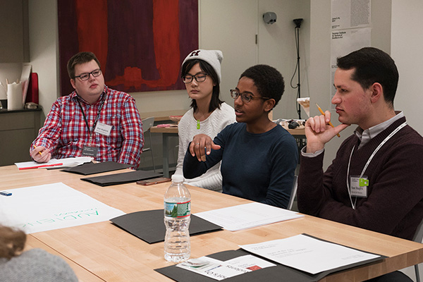 As part of the conference program, students broke into small groups led by Student Board members to consider topics regarding academic art museums and student engagement. Photo: © Matthew Monteith.