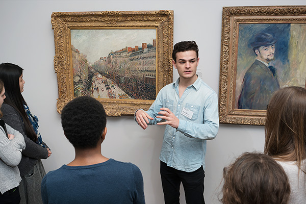 Several student guides from the Harvard Art Museums presented their tours to conference participants. Photo: © Matthew Monteith.