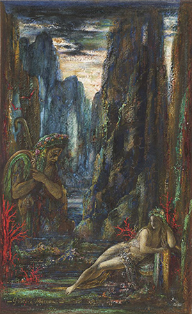 Gustave Moreau, Galatea, 1896. Gouache on wove paper. Harvard Art Museums/Fogg Museum, Bequest of Grenville L. Winthrop, 1943.267.