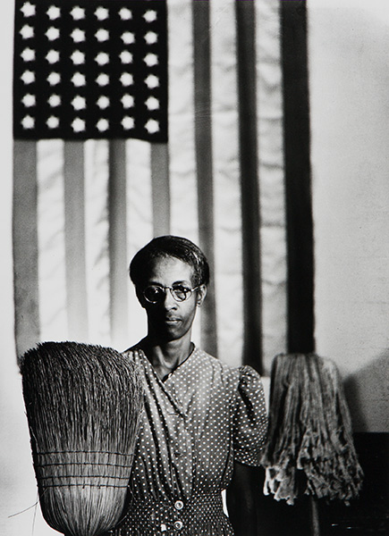 Gordon Parks, American Gothic, Washington, DC, 1942, printed later. Gelatin silver print. Harvard Art Museums/Fogg Museum, Transfer from the Carpenter Center for the Visual Arts, Beinecke Fund, 2.2002.1000. © Gordon Parks Foundation.
