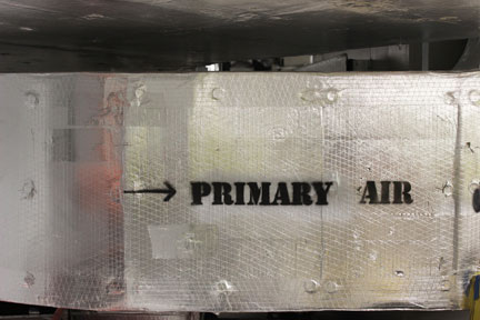 Primary air is fresh air that has been brought in from the outside, after it is filtered and humidified or dehumidified. It satisfies the ventilation requirements of the building code and creates positive pressurization, a central tenet of climate control for museums.