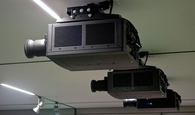 Three high-performing digital projectors have been installed in both Menschel Hall and Deknatel Hall.