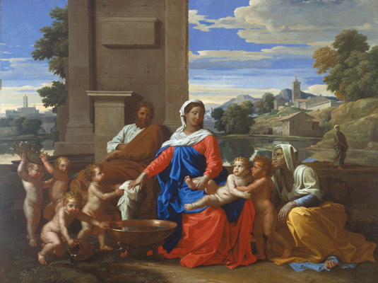 Nicolas Poussin, The Holy Family with the Infant Saint John the Baptist and Saint Elizabeth,1650–51, Harvard Art Museums/Fogg Museum.