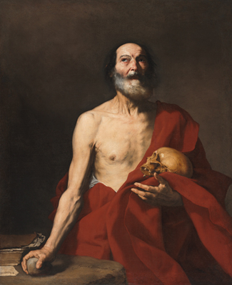 Jusepe de Ribera, Saint Jerome,1640, Harvard Art Museums/Fogg Museum.