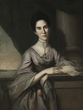 Charles Willson Peale, Susanna Steuart Tilghman (Mrs. James Tilghman) (1749–1774), 1775. Oil on canvas. Harvard Art Museums/Fogg Museum, Bequest of Grenville L. Winthrop, 1943.145.