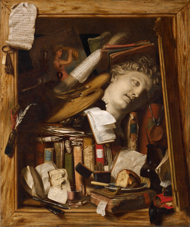Charles Bird King, The Vanity of the Artist's Dream, 1830. Oil and graphite on canvas. Harvard Art Museums/Fogg Museum, Gift of Grenville L. Winthrop, Class of 1886, 1942.193.