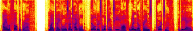 "DIET created a spectrogram of ARTphone's response to a request for a ""random"" object. In this case, it's a photograph by Joseph Janney Steinmetz: ""My title is Untitled (builders looking through window frames, Portsmouth, VA)."""