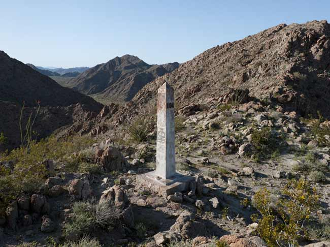 David Taylor, Border Monument No. 184, 2010. Archival inkjet print. Courtesy of James Kelly Contemporary.